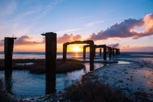 Snettisham Jetty Sunset by Rentapest