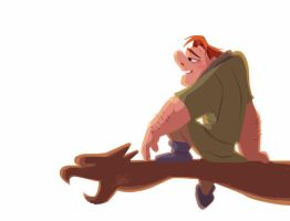Quick rough color sketch of Quasimodo by princekido