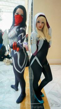 Silk and Spider Gwen cosplay echo endless by ECHOENDLESS