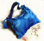 Ocean felted bag by kokonok