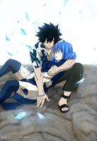 Fairy Tail : Gray and Juvia by chrizod