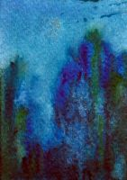 ATC mysterious forest by crazyruthie