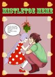 Mistletoe Meme  Hugh and Millie by KikiThePumpkinLover