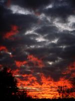 The Sky Is On Fire by Birthstone