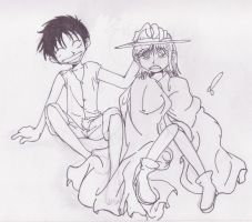 .: Luffy And Nami :. by ARSugarPie