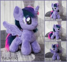 Plushie chibi Twilight Sparkle with magnetic wings by Valmiiki