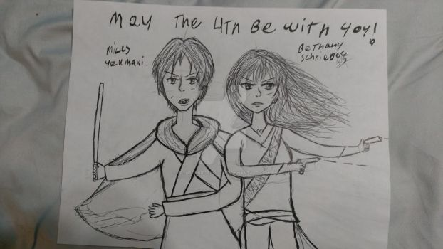 may the 4th be with you (star wars fan art) by BethSchniederoficial