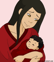 Azula with the baby by Jackie-lyn