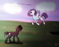I want to fly like you by AntharesMK