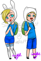 STICKERS: Fiona and Finn by singingcatartist12