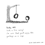 haiku 19 (tire swing) by inkblort