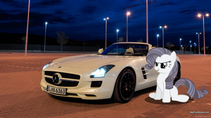 Rarity's SLS AMG by RDbrony16