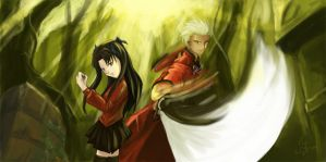 Archer and Rin by fyonne