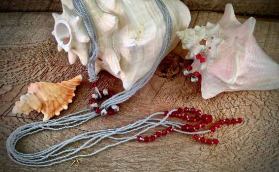 Silver Pomegranate Set by OohShinyJewelry