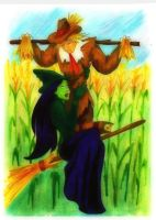 Elphaba and the Scarecrow by MaryJet