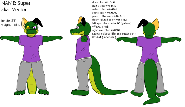 My T-Pose ref sheet by Super526