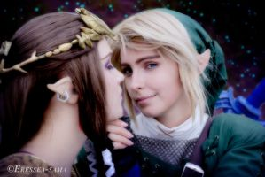 Link x Zelda - ...while my prayers effect I take by Eressea-sama