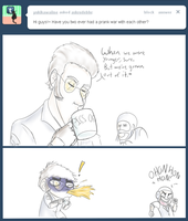 Prank Wars Never End. by SuicidalSnail