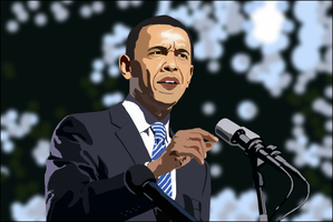 Finished Obama Vector by fireproofgfx