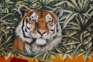 Jungle 2 wall mural by linkerart