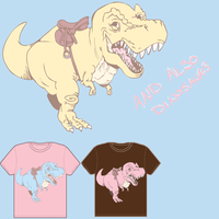 and also dinosaurs t-shirt by socke-scheusal
