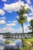 Dock of the Lake HDR by joelht74
