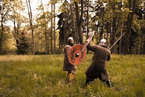 Viking fight - Stock by Liancary-art