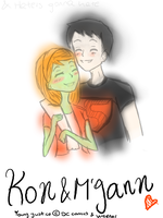 Young Justice - Kon and M'gann by XFenikkusu