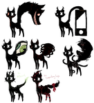 Adopts and Commission Cats by Lokymew