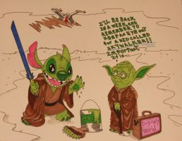 Yoda Takes a Vacation by DannyNicholas