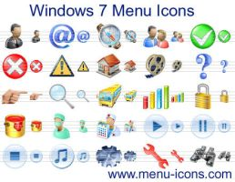 Windows 7 Menu Icons by Ikont