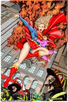 Supergirl saves the day Blonde by powerbook125