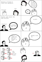 School Rage Comic by Whitefeathers92