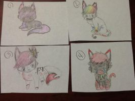 Free Adoptables.:CLOSED:. by spinstarxxx