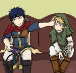 Ike vs. Link by Hylian-Link