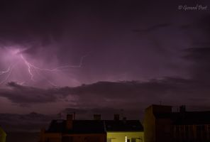 My first attempt of a thunderbolt in the storm by GerardPort