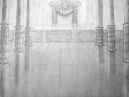 Fire Lord's Throne Room Pencil by Ozai-Fanatic