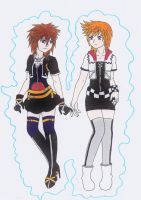 Sora and Roxas as a girls. by Hihuli