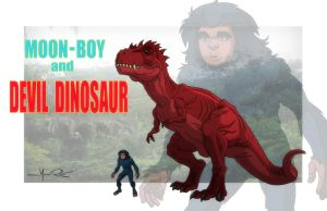 HAS: MOON-BOY and DEVIL DINOSAUR by Jerome-K-Moore