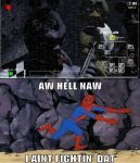 spiderman cant take five nights at freddys by SNESS107