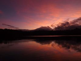 Reflected Mount Red by tablelander