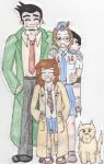 Gumshoe and Family by KatieeBella