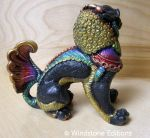 Side view of painted female Foo dog by Reptangle