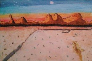 Watercolor Landscape by maddie22201