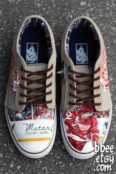 Detroit Red Wings Shoes by BBEEshoes