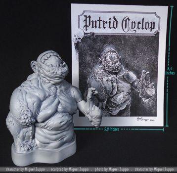 Putrid Cyclop Mini bust kit ( original art) by miguelzuppo