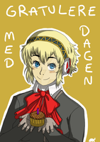 Aigis birthday gift by LokiThePimp