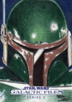 Star Wars GF S2 - Boba Fett Sketch Art Card 1 by DenaeFrazierStudios