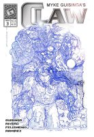 CLAW Issue 3 Cover Blue by Mykemanila