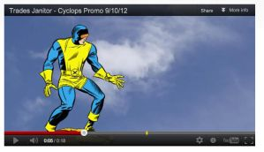 Cyclops cartoon promo by me by NelsonRibeiro
